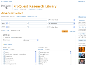 Proquest dissertation database congressional